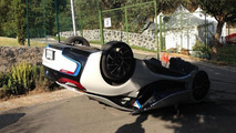 Journalist flips over BMW i8 during a test drive
