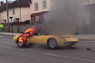 Lamborghini Miura SV Burns to the Ground