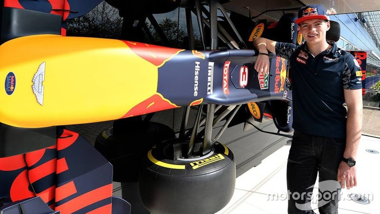 Max Verstappen, Red Bull Racing visits the factory