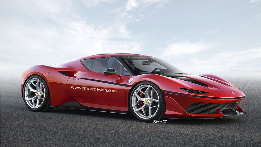 Ferrari J50 Coupe render is what dreams are made of