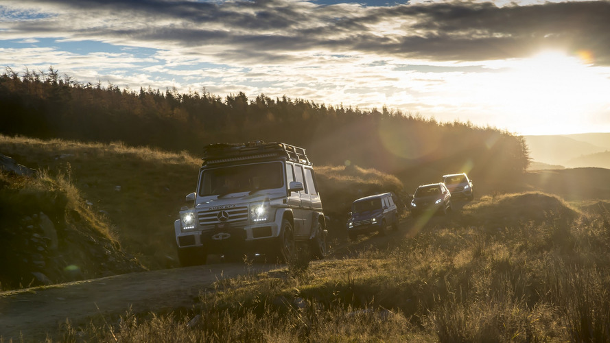 12 Mercedes SUVs traversed U.K. without using public roads at all