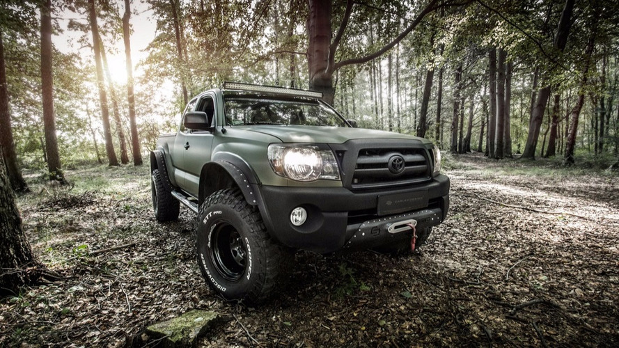 Carlex-trimmed Toyota Tacoma takes walk in the woods