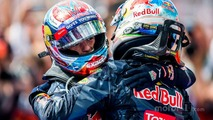 Third place Max Verstappen, Red Bull Racing and second place Daniel Ricciardo, Red Bull Racing in parc ferme