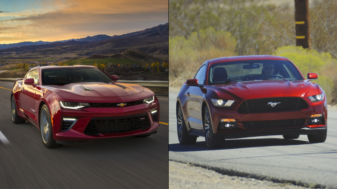 Ford Mustang and Chevy Camaro graphic