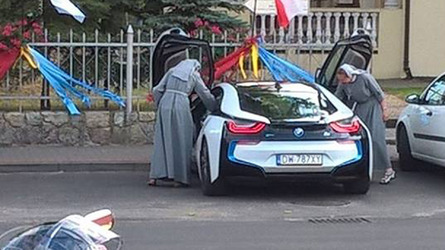 BMW i8 with Polish Nuns