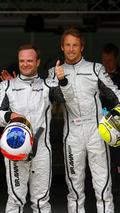 Rubens Barrichello and Jenson Button, Qualifying, Spanish grand prix 2009