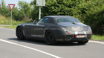 Mercedes-Benz SLS AMG Gullwing Spied in Grey