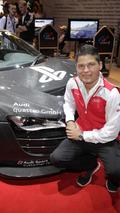 Audi R8 LMS racing simulator and driver Christopher Mies - 17.8.2011