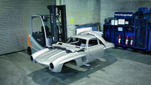 Illegally manufactured vehicle body of a Mercedes-Benz 300 SL (W 198). Scheduled for demolition. The vehicle was confiscated by German customs officials.