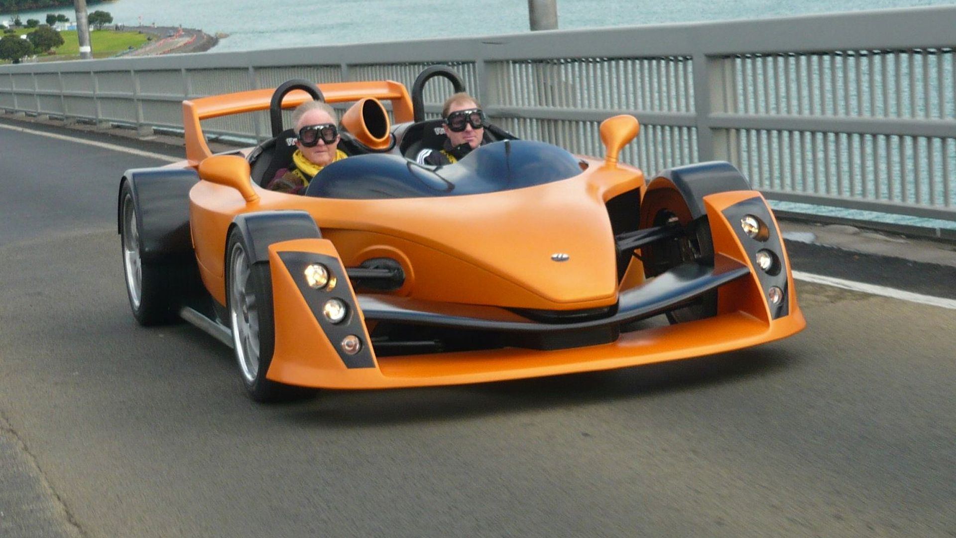 Hulme CanAm supercar hits the road after launch party