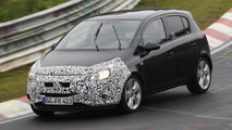2014 Opel Corsa facelift spied on the Nürburgring