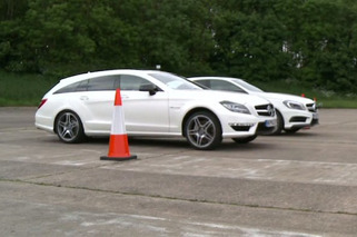 Mercedes A45 AMG Outmuscles CLS63 in Quarter-Mile [video]