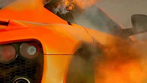 Zenvo ST1 fire on Top Gear