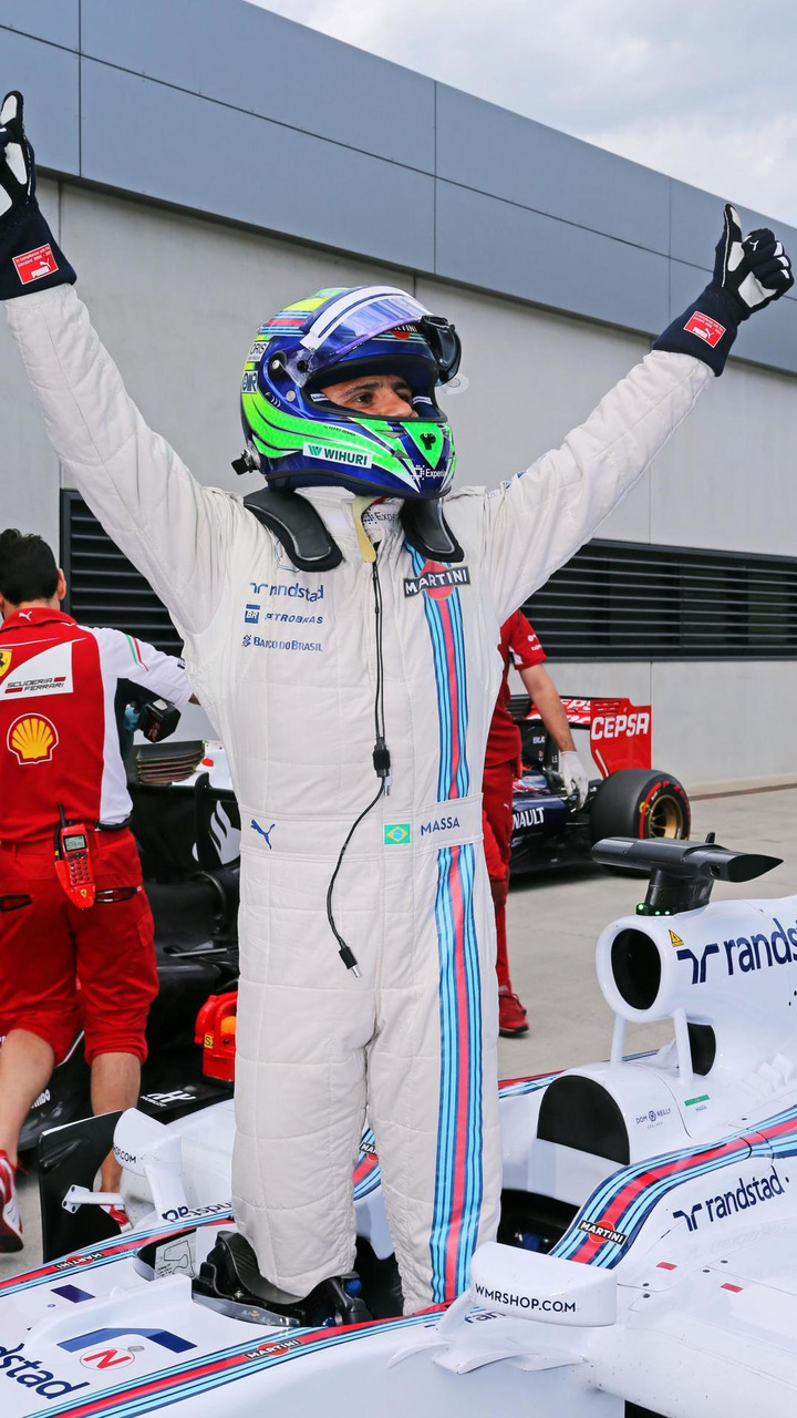 Felipe Massa (BRA) celebrates his pole position in parc ferme, 21.06.2014, Austrian Grand Prix, Spielberg / XPB