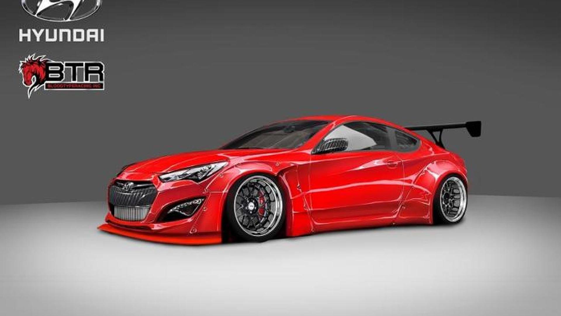 Hyundai & Blood Type Racing unveil their 800 bhp Genesis Coupe for SEMA