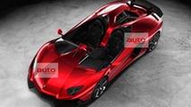 Lamborghini Aventador J Speedster leaked image