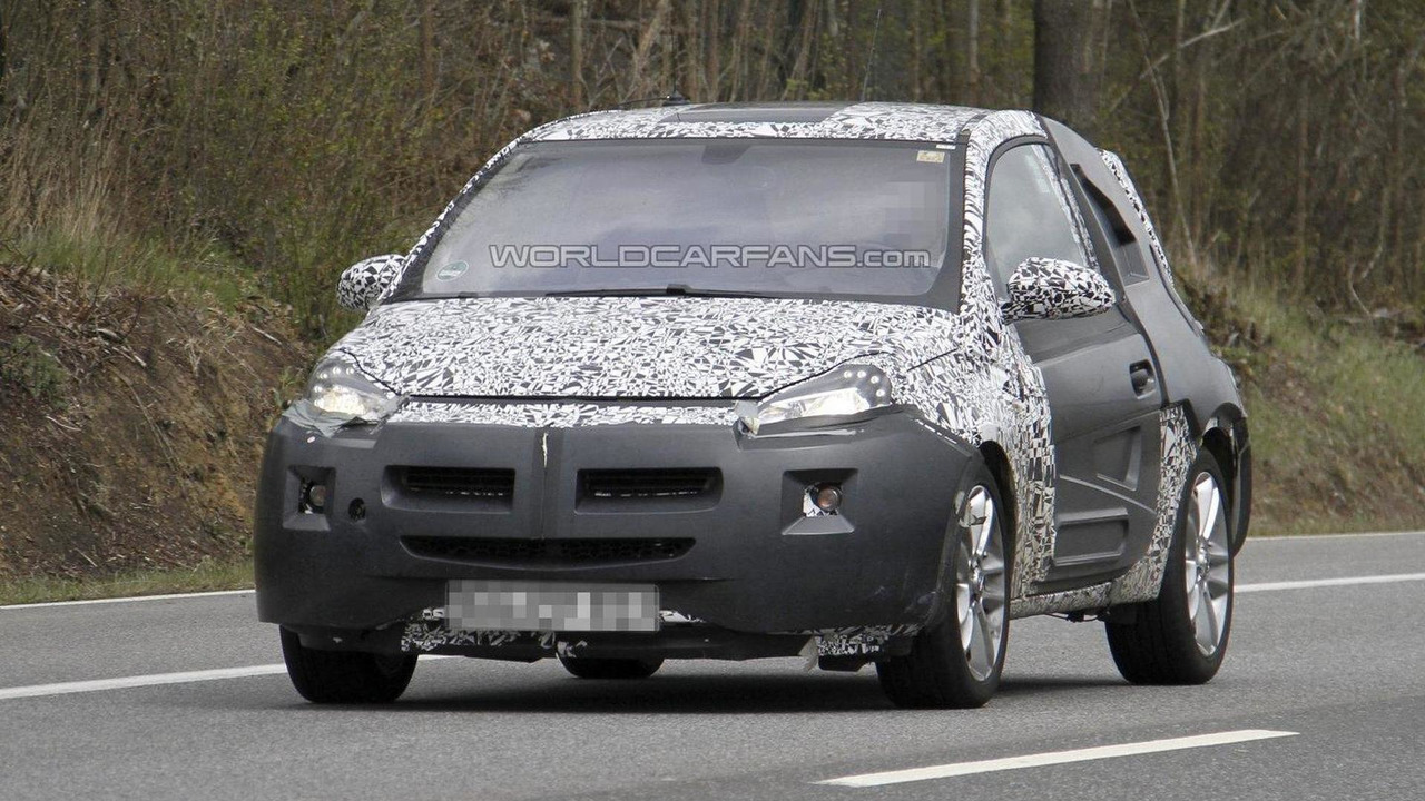 Opel Adam spy photos 26.04.2012