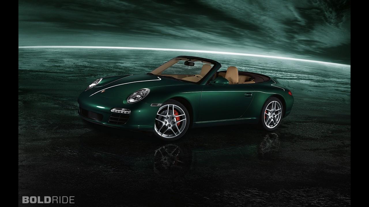 спортивный автомобиль зеленый porsche 911 carrera 4s  № 2596606  скачать
