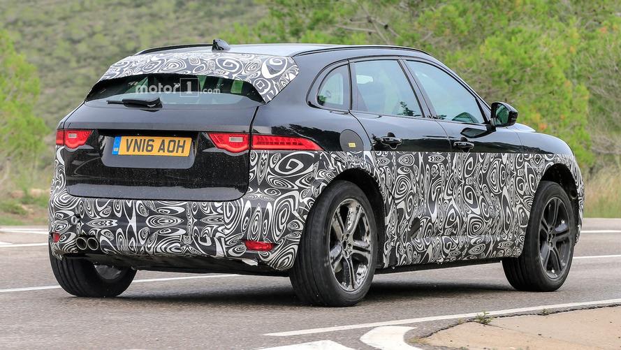 Jaguar I-Pace test mule shows off some production lines