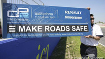 Road safety board Catalunya GP2