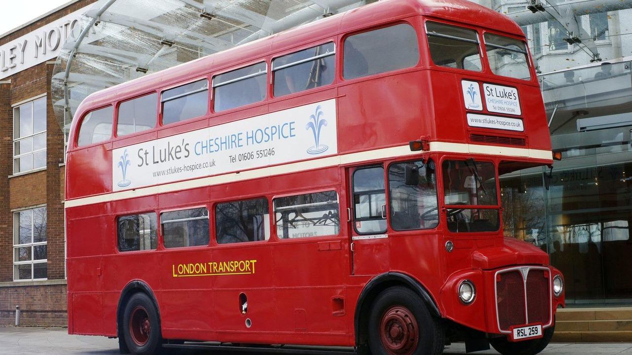 Bentley London Routemaster double-decker bus for St Luke's Hospice