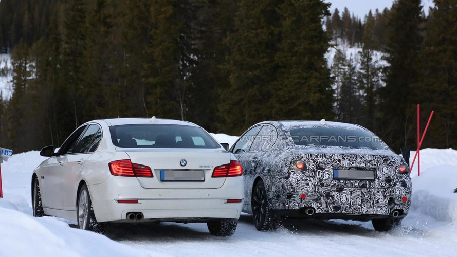 2017 BMW 5-Series spied testing alongside current model