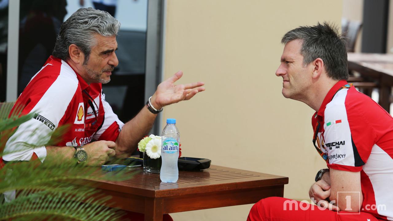 Maurizio Arrivabene, Ferrari Team Principal with James Allison, Ferrari Chassis Technical Director