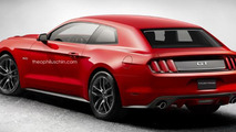 Ford Mustang hatchback render is an attempt for a shooting brake conversion