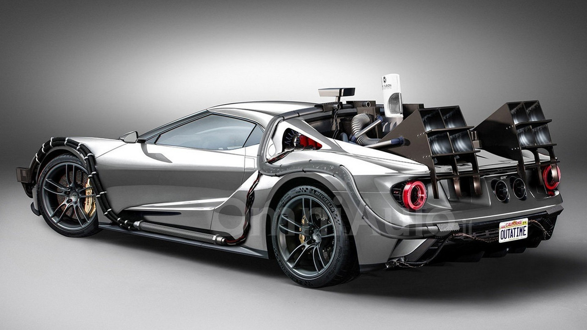 Ford GT concept imagined as time machine from Back to the Future