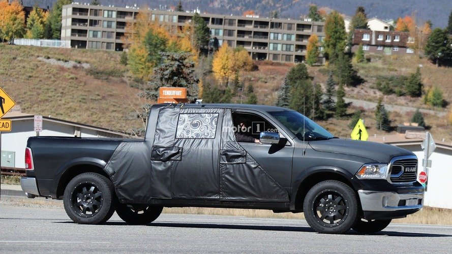2018 Ram Mega Cab test mule spied with larger cabin