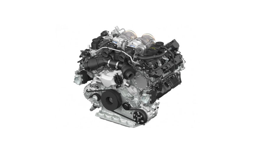 Porsche unveils new biturbo V8 engine