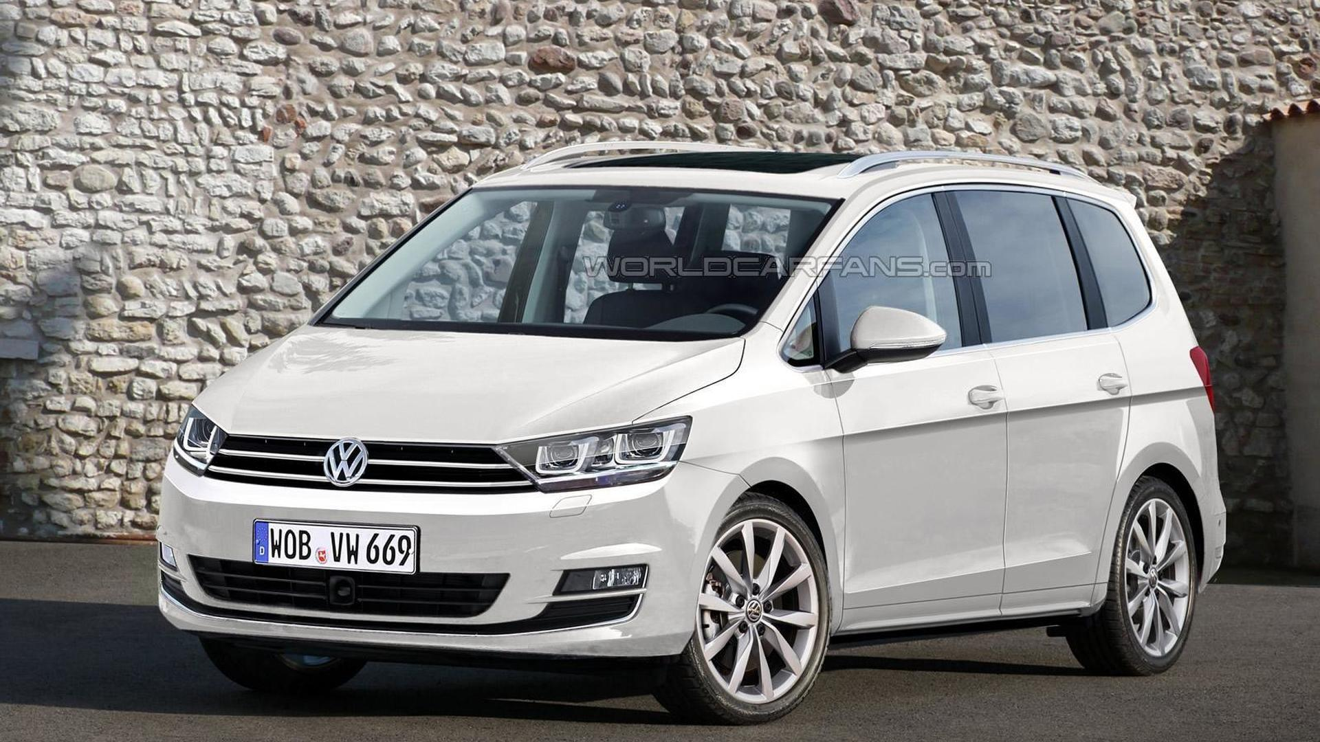 2016 volkswagen touran render shows what to expect. Black Bedroom Furniture Sets. Home Design Ideas