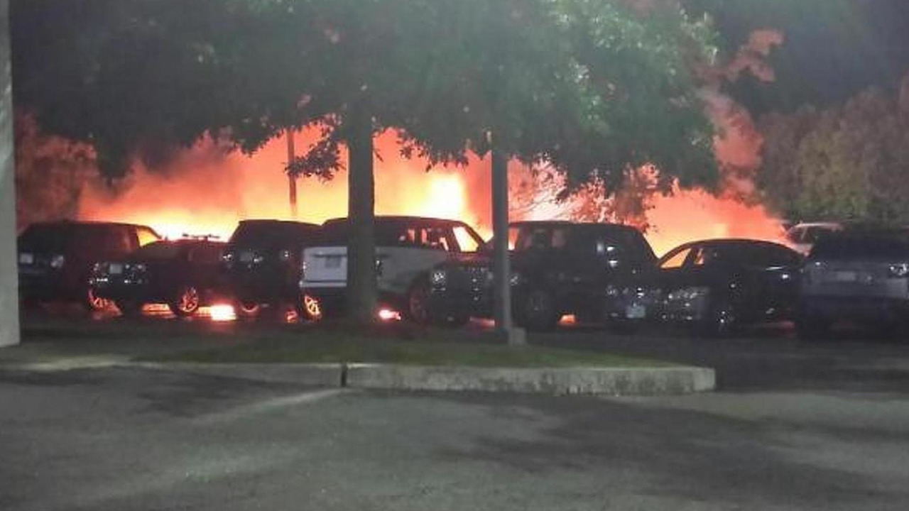 Fire at Sudbury JLR dealership in Massachusetts