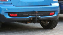 MINI Cooper S spy photo with tow hitch and modified central exhaust