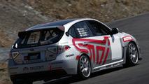Subaru Impreza STI in action on Nurburgring shakedown