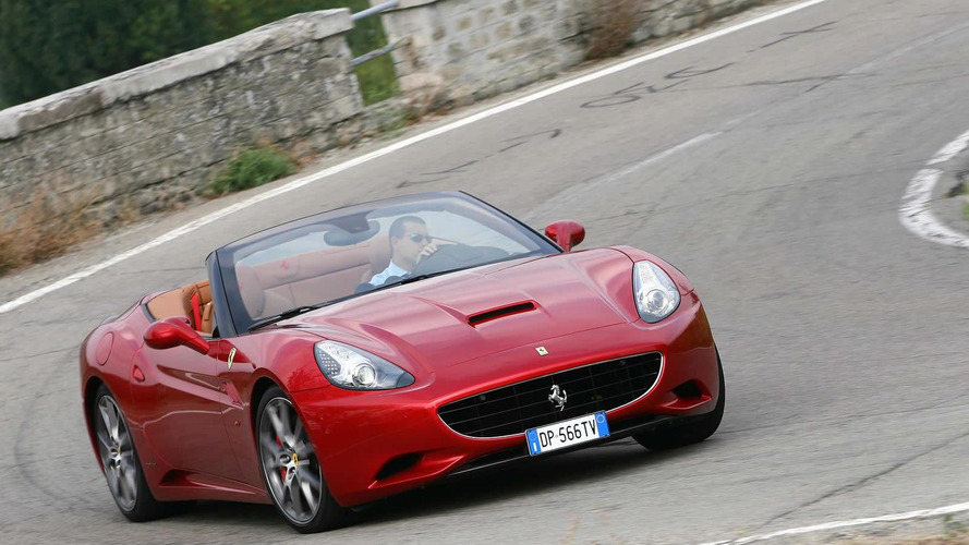 Ferrari California with the HELE system in Paris (High Emotion Low Emissions)