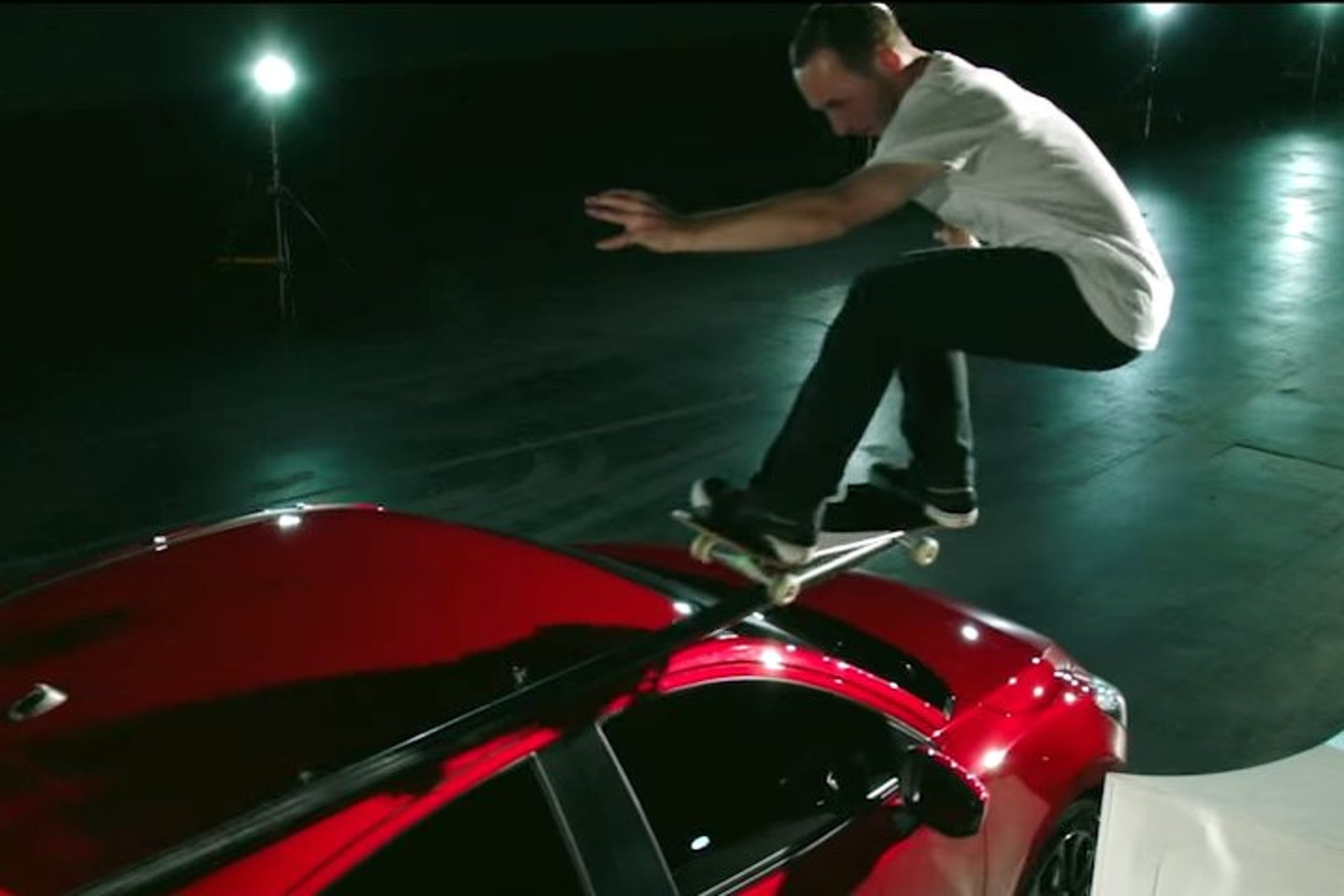 Watch a Pro Skater Grind Atop a Moving Mazda2