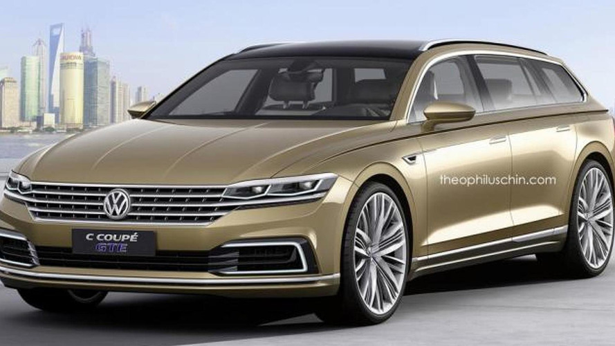 Volkswagen C Coupe GTE concept rendered into a wagon