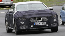 Hyundai Genesis facelift shows its grid-styled front grille in new spy shots