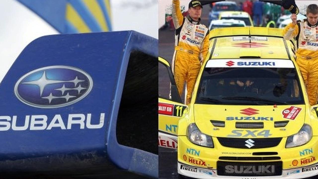 Suzuki and Subaru WRC 2008 collage