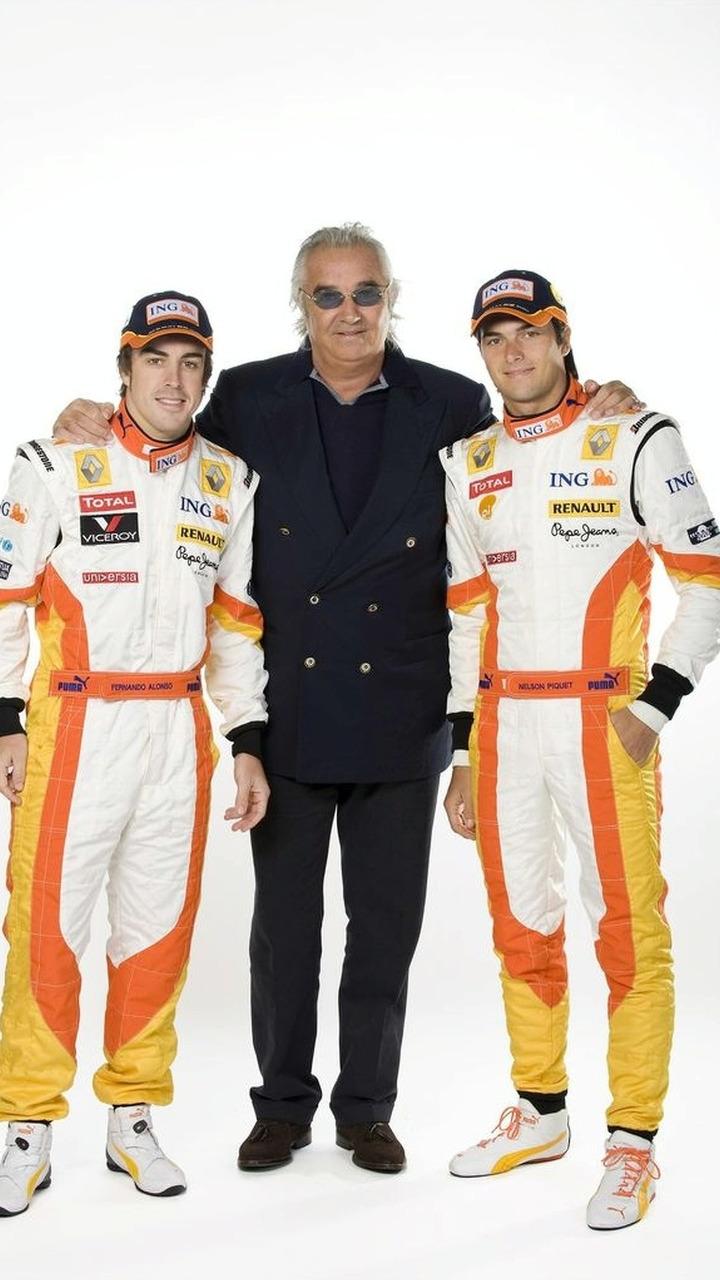 Fernando Alonso - Flavio Briatore - Nelson Piquet