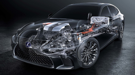 2018 Lexus LS 500h multi-stage hybrid system detailed