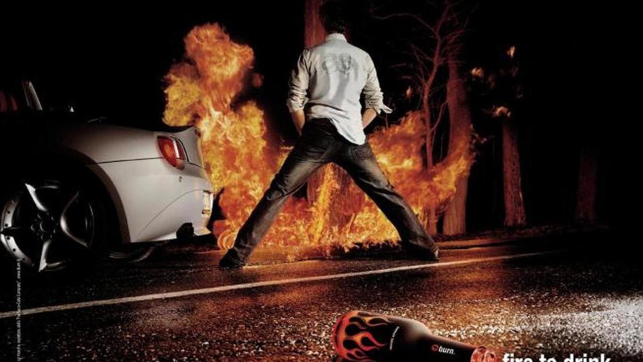 Coca-Cola Burn energy drink advertisement 22.11.2012