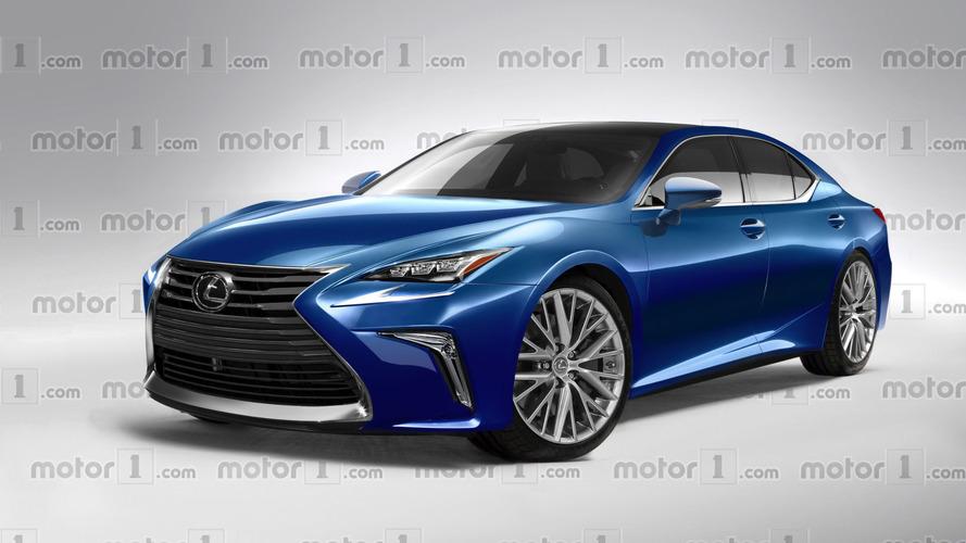 2018 Lexus LS exclusively rendered