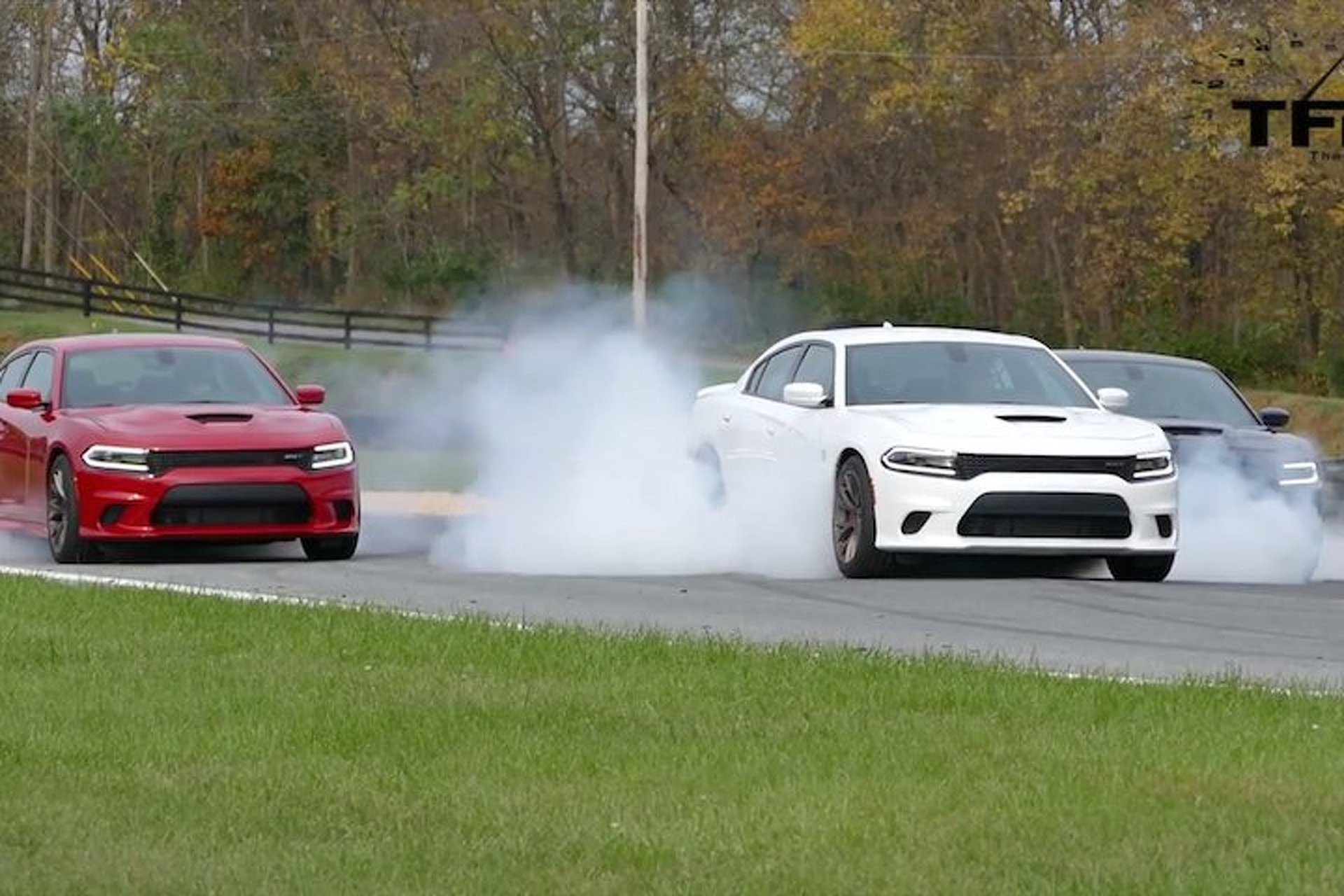 Red, White and Blue Charger Hellcat Burnout is the Most American Thing Ever
