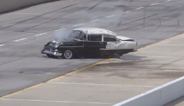Guy Rolls His 1955 Chevy in a Drag Race, Goes Through Windshield, Walks Away Unharmed [Video]