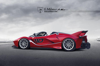Ferrari FXX K Spider Won't Happen, But Looks Wild