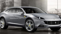 Ferrari FX crossover rendered; FF was almost a crossover
