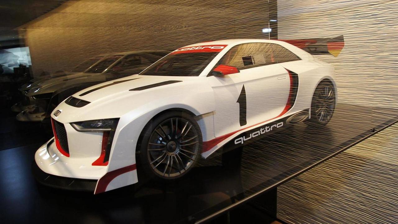 Audi Quattro Concept rally model in Paris