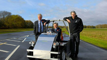 Lord Drayson drives the Gordon Murray Design T.25 prototype